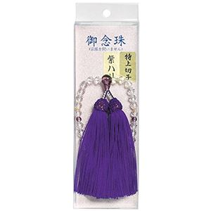 マルエス 10T303-01 数珠 Wカット切子 紫ハリ