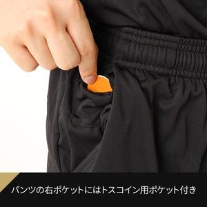 rioh サッカー審判服 L 3点セット(半袖シャツ + ハーフパンツ + ソックス) レフリーウェア ユニフォーム ブラック 黒