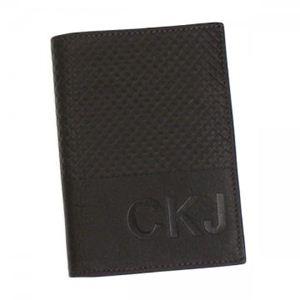 カルバンクライン 二つ折り財布(小銭入れ付) CALVIN KLEIN JEANS CDF104 198 ダークブラウン H12.5×W9×D2.5