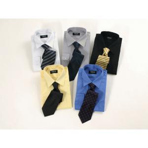モテリーマンになるためのYシャツ&ネクタイ 10点セット 無地M