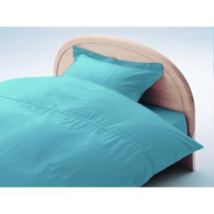 アーミッシュカラーベッド用BOXシーツ セミダブル ブルー 120cm×200cm×27cm