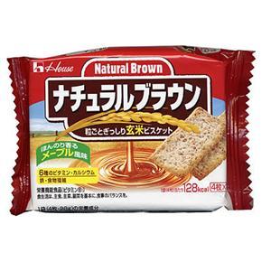 ナチュラル ブラウン 玄米ビスケット4枚*2袋