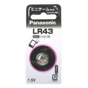 パナソニックアルカリボタン電池 LR43P