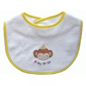 Primary Baby Circus パイル刺繍スタイ さる