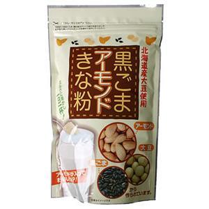 北海道産大豆使用 黒ごまアーモンドきな粉 300g